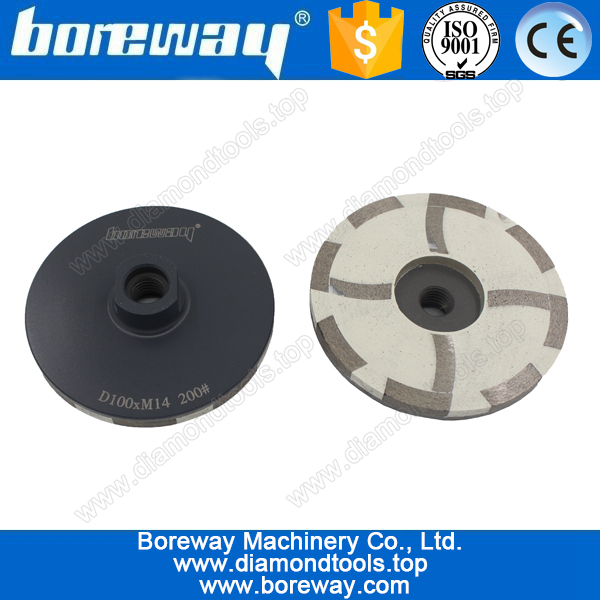 D100*M14*200# 4 segments resin filled diamond cup grinding wheels