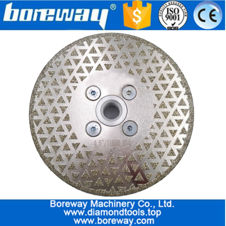 Electroplated diamond cutting and grinding disc