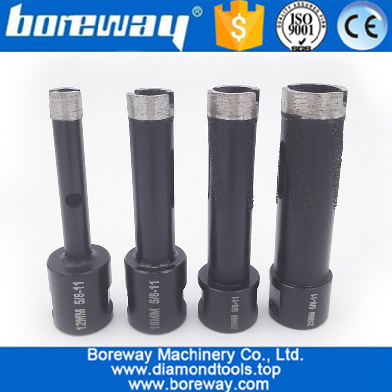 4Pcs Welded Diamond Drill Core Bits with 5/8-11 Thread for Drilling hard granite marble -2