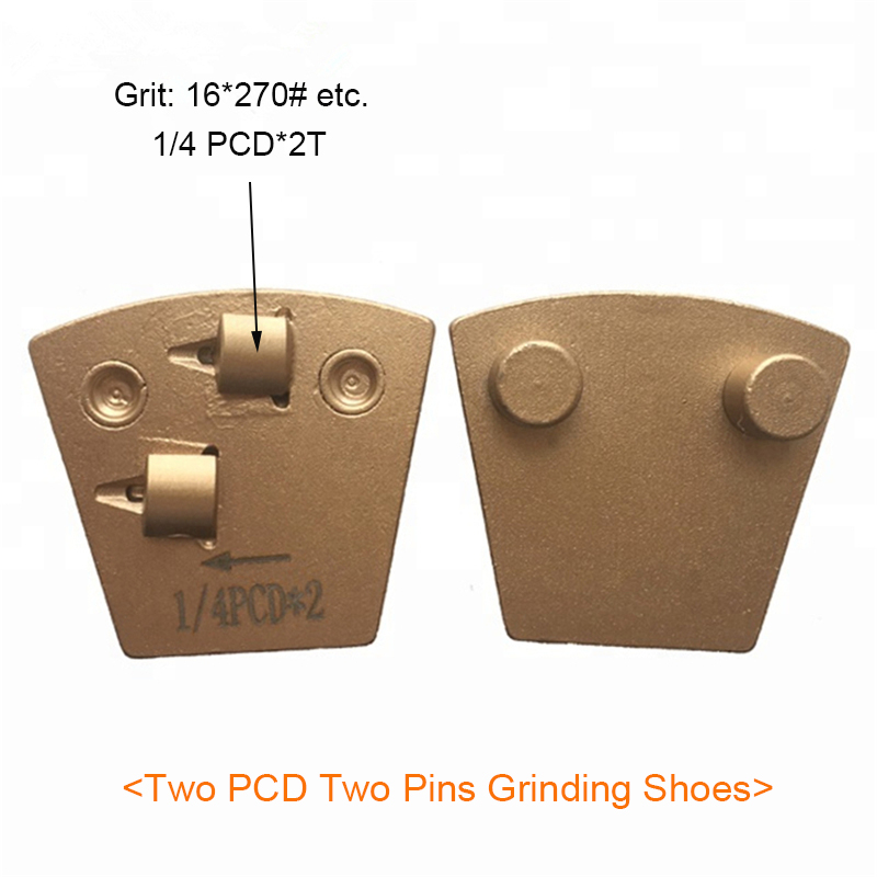 Two PCD Two Pins Grinding Shoes