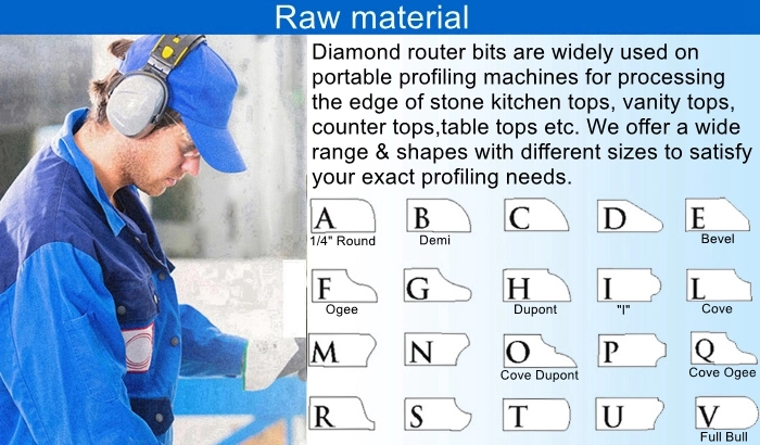 Diamond Router Bits Raw material