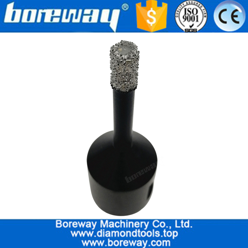 Vacuum Brazed Diamond Core Drill Bits, Dry Drilling Bits with 5/8-11 Connection