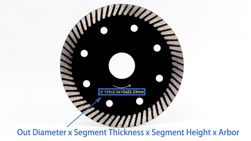 4 Inch diamond turbo cutting disc