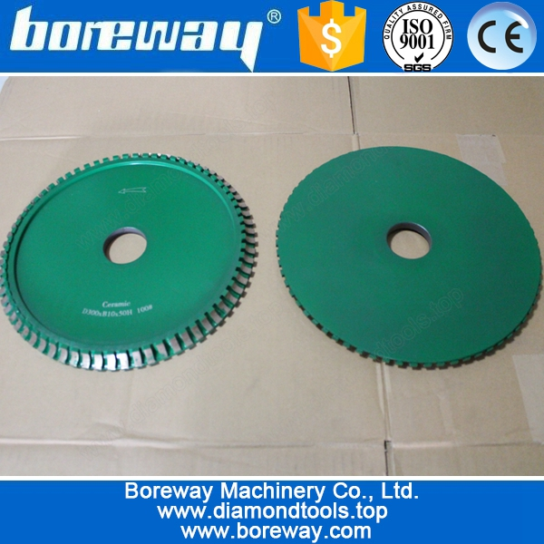 Ceramic Profile Diamond Cutting Wheels D300*B10*50H 100#