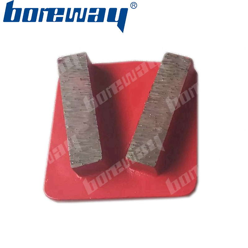 2 rectangle bar curved diamond grinding shoes wheel segments for Husqvarna grinder