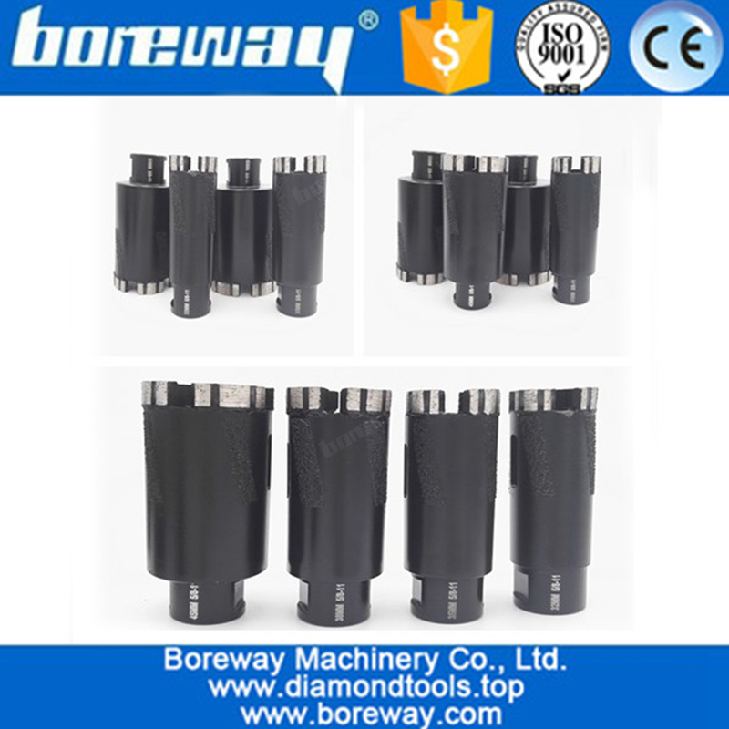 4Pcs Welded Diamond Drill Core Bits with 5/8-11 Thread for Drilling hard granite marble -5