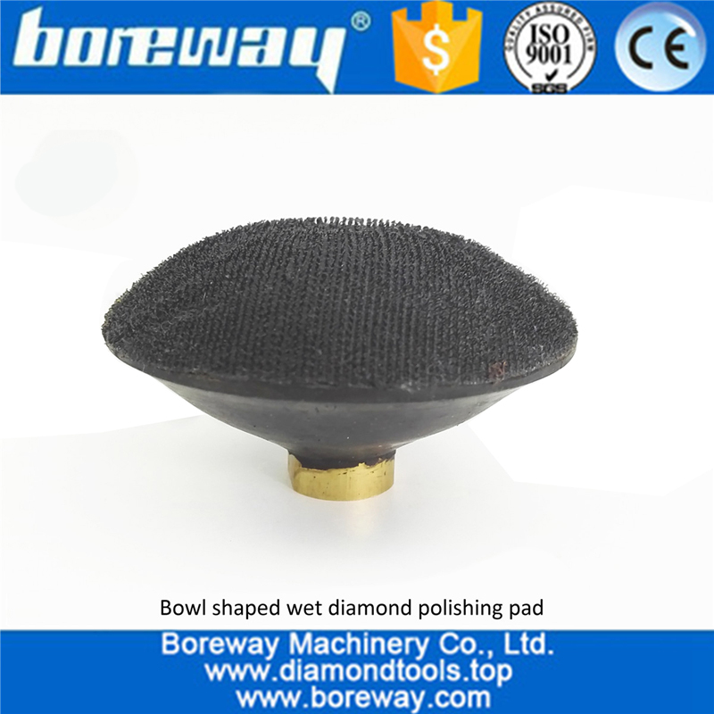 Convex Wet Use Marble Granite Diamond Polishing Pad with backer for polishing Concrete Quartz 02