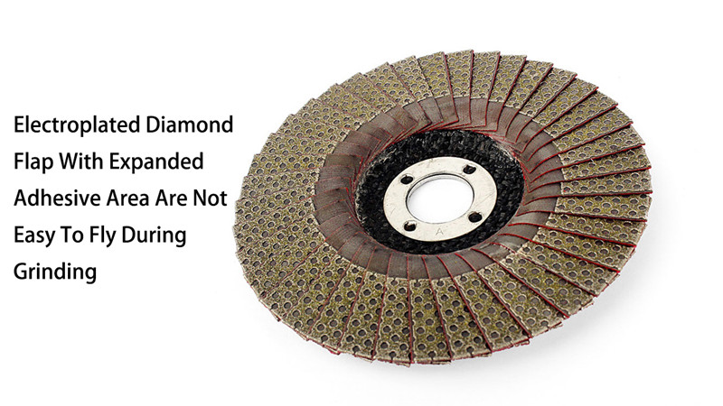4 Inch electroplated diamond flap disc