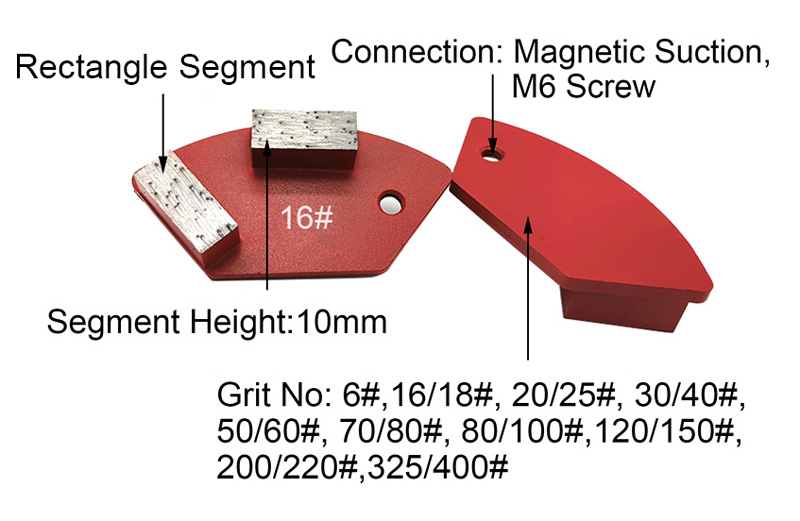 Double Rectangle Segments Grinding Arc Pad Tools For National Floor Equipment Grinder Suppliers