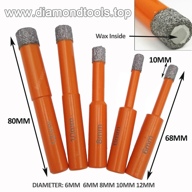 Hex Shank Or Round Shank Vacuum Brazed Diamond Core Drill Bits 01