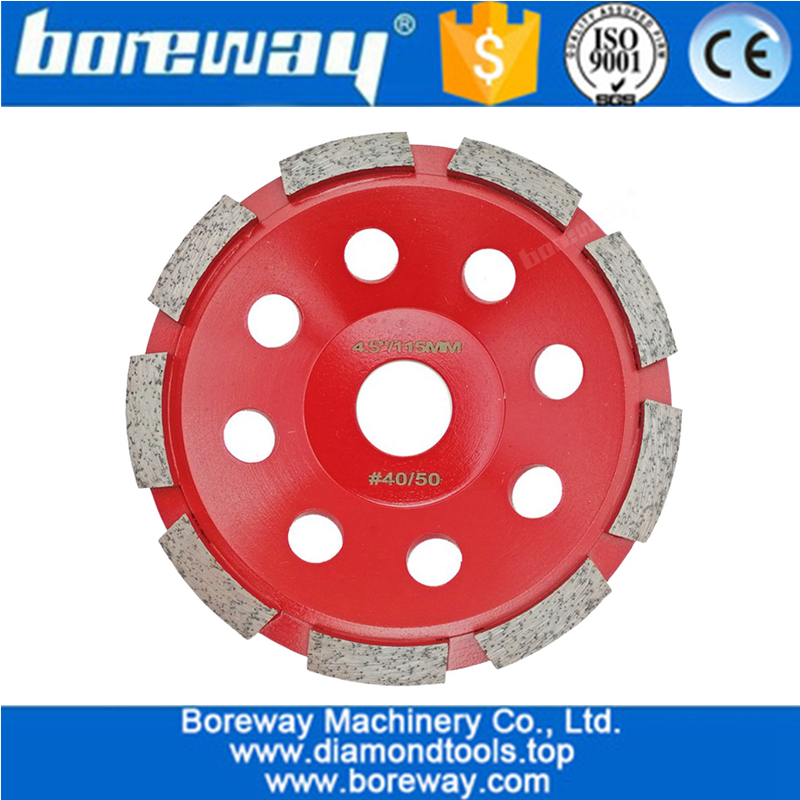 Diamond Tool Single Row Segmented Diamond Grinding Cup Wheel for Concete and Stone