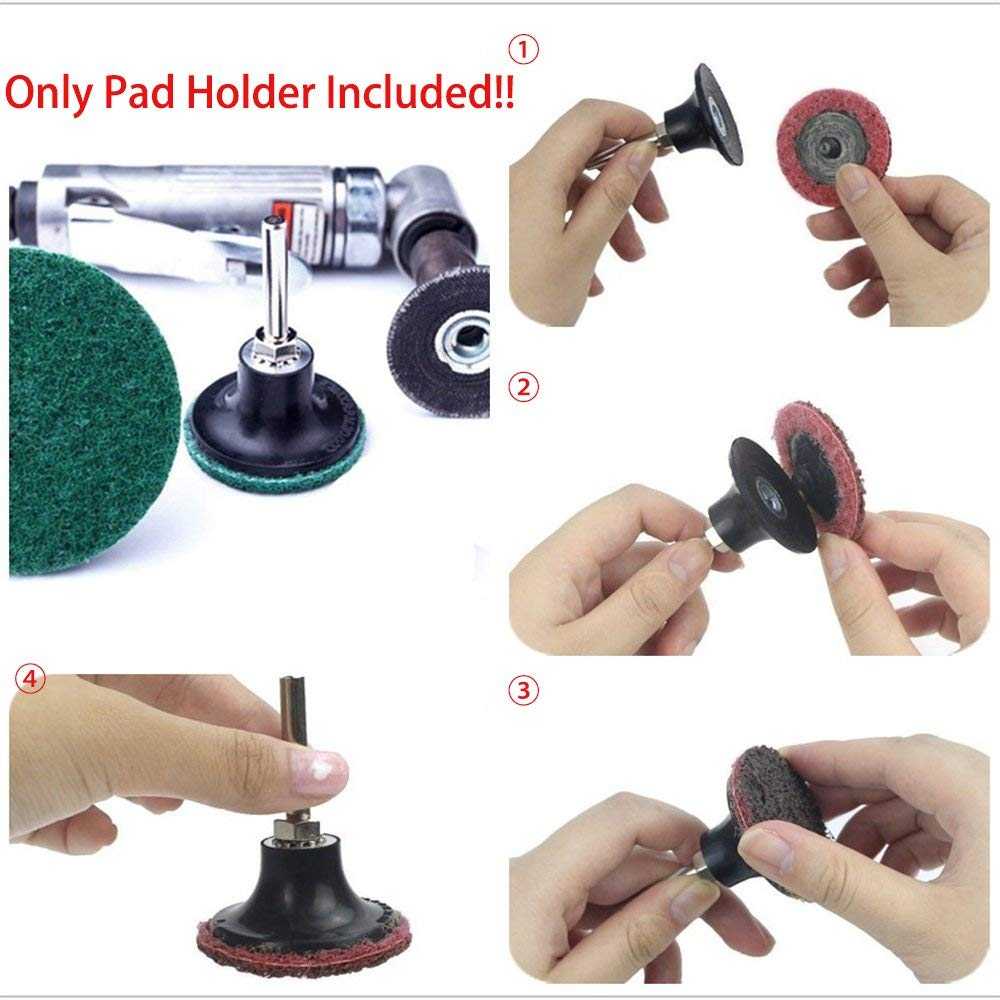 Black 2inch and 3inch Roloc Roll Lock Rotary Sanding Disc Pad Holder For Grinders Abrasive Tools