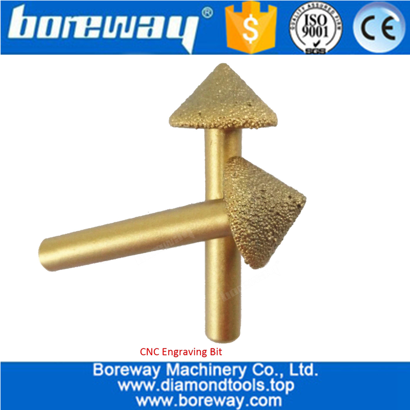 3D Vaccum Brazed Diamond engraving bits,big mushroom