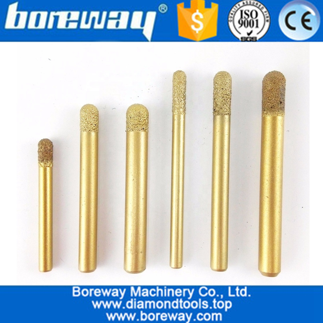 Vaccum Brazed Diamond engraving bits ball end