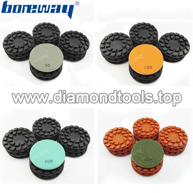 4inch 100mm Flower diamond floor polishing pads for concrete and natural stone3