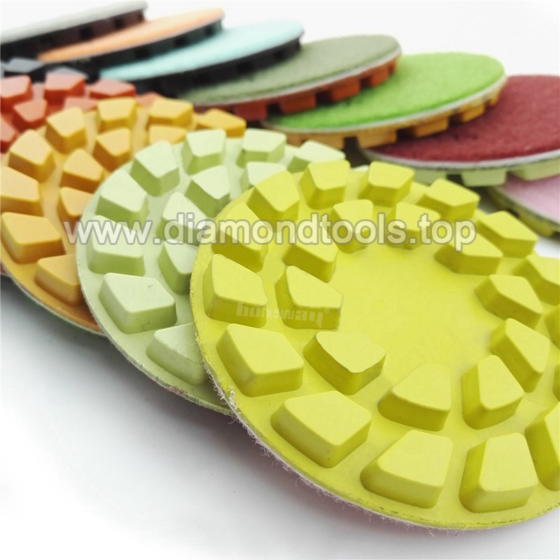 4inch 100mm Flower diamond floor polishing pads for concrete and natural stone4