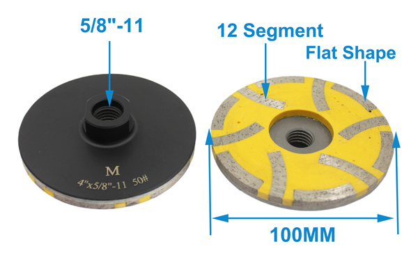 Factory Price d100mm China Diamond Resin Fill Grinding Cup Wheel For Granite