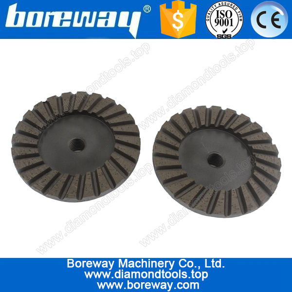 Supply D100*M14*60# ripple segment diamond cup grinding wheels for grinding stone and concrete