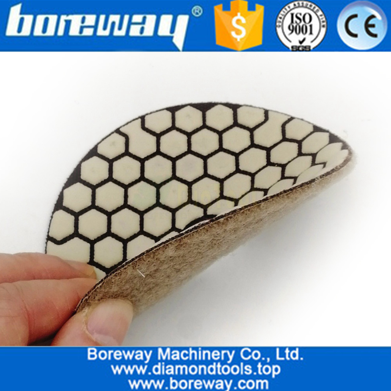 Dry Flexible Diamond Polishing Pads 4inch 100MM Resin Bond Diamond Flexible Diamond sanding disc