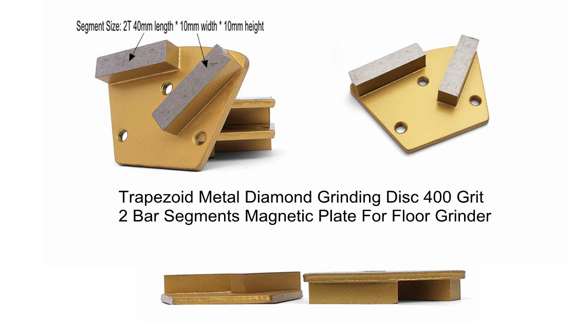 Trapezoid Metal Diamond Grinding Disc For Floor Grinder