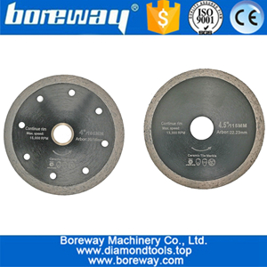 What are the classifications of diamond saw blades in terms of appearance?