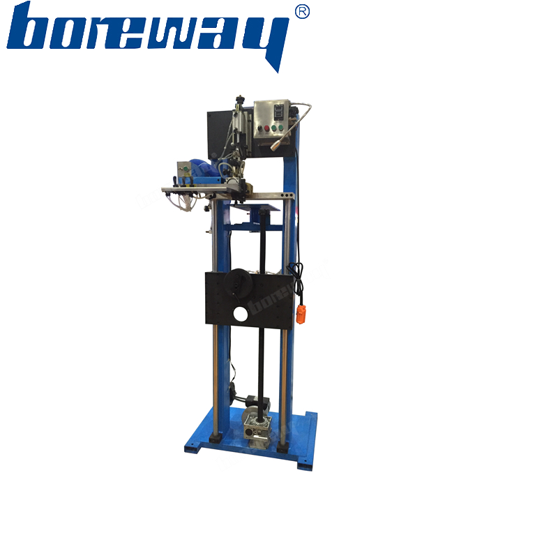 Semi-automatic welding frame rack for diamond saw blade