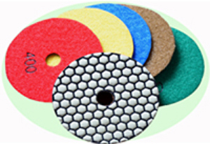 Artificial diamond dry polishing pads