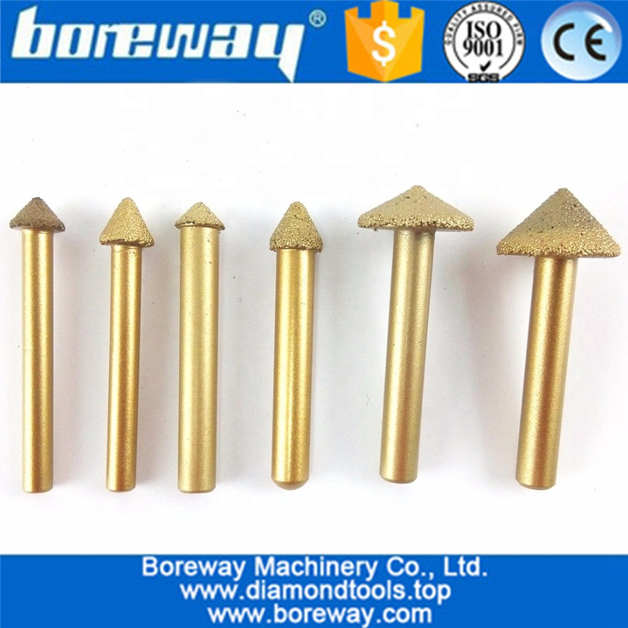3D Vaccum Brazed Diamond engraving bits, big mushroom