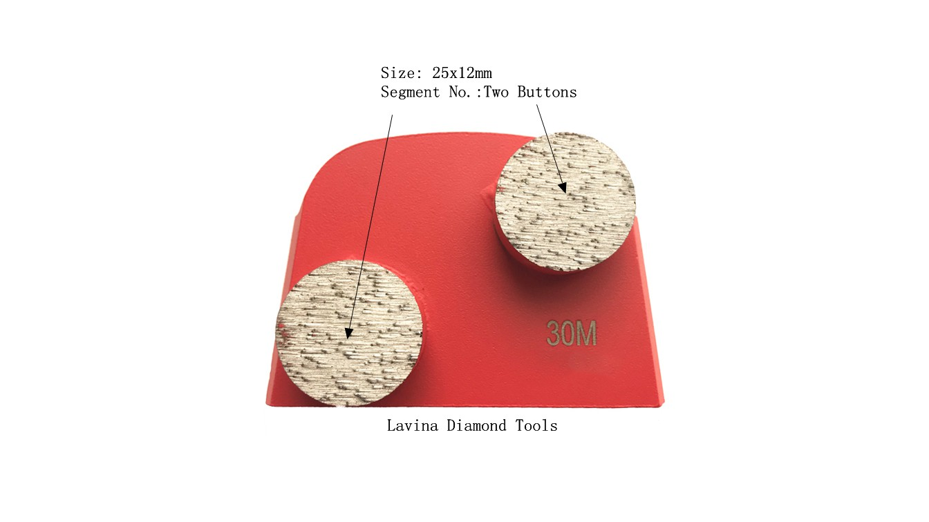 Lavina Diamond Grinding Plate With Double Buttons Size 25x12mm
