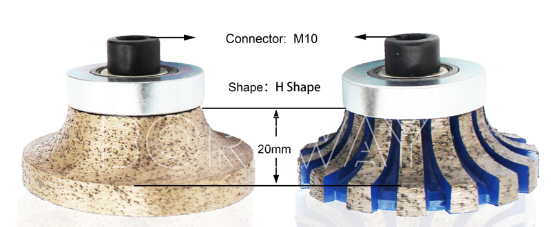 H20mm Diamond CNC Sintered Marble Router Bit For Portable Machine Suppliers