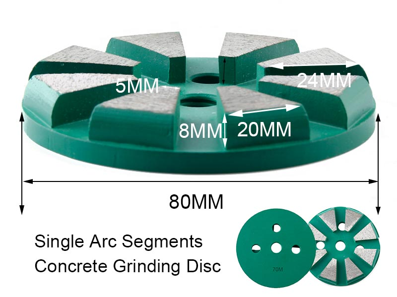 Chinese Wholesaler Single Arc Segments Round Grinding Pads