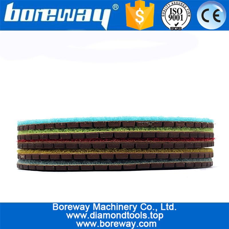 3inch Resin Bond with Copper For Stone Polish Diamond Polishing Pad