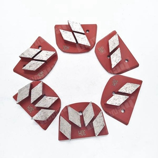 Three Rhombus Segments Grinding Shoes
