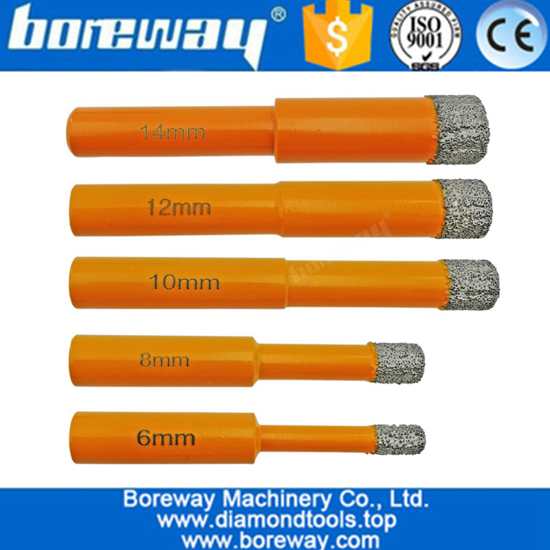 5Pcs/set Round Shank Vacuum Brazed Diamond Drill Bits for stone