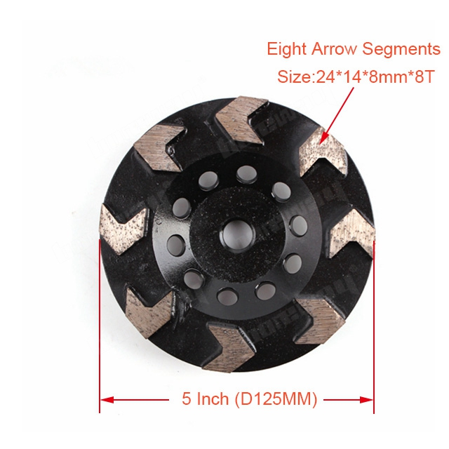 8 Arrow Segments Grinding Cup Wheel