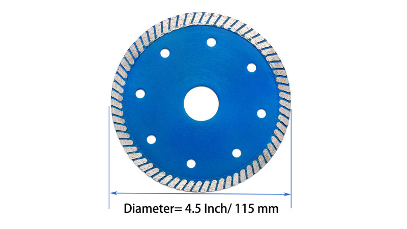 Turbo diamond saw blade with cooling holes