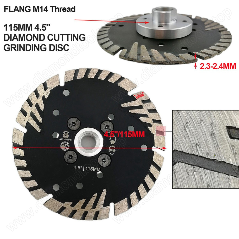 Hot pressed sintered diamond turbo saw blade email boreway05@boreway.net