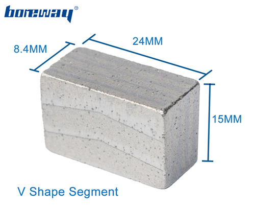 Granite Cutting Diamond Segment Using in Block Cutting