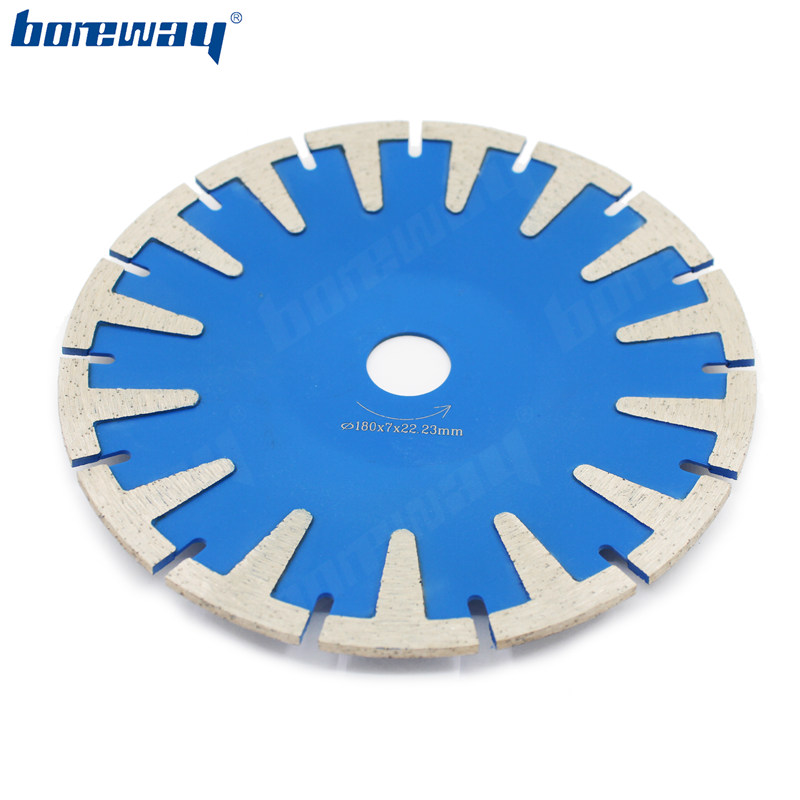 Boreway 180mm 7 Inch Diamond Cutting Blade Concave Curved Concrete Marble Diamond Circular Saw Disc with T Segment
