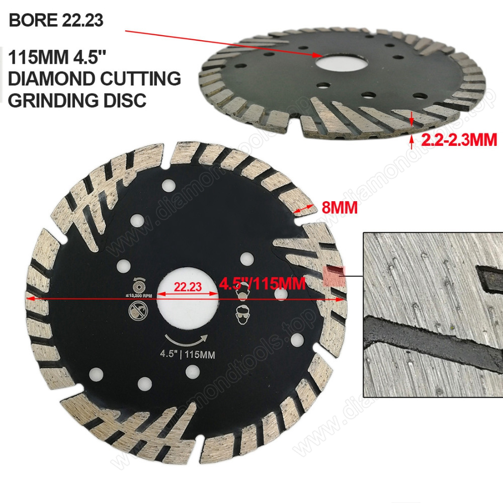 hot pressed diamond saw blade turbo blade