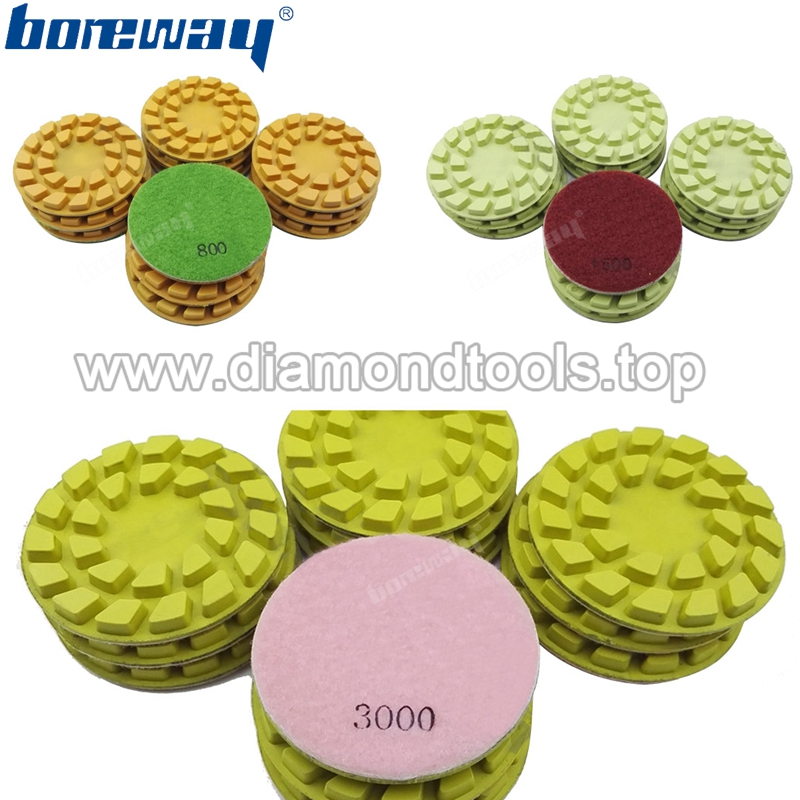 4inch 100mm Flower diamond floor polishing pads for concrete and natural stone2
