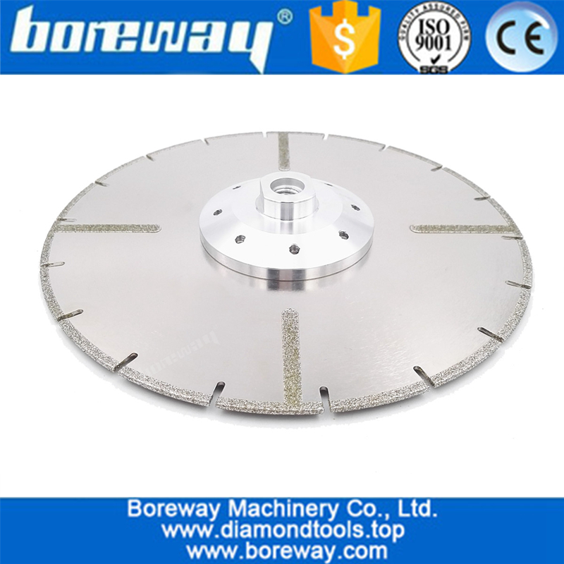 Electroplated diamond cutting blade 22.23MM or M14 flange with protection reinforced diamond disc with flange