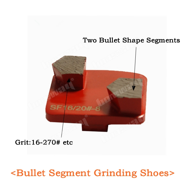 Bullet Segment Grinding Shoes
