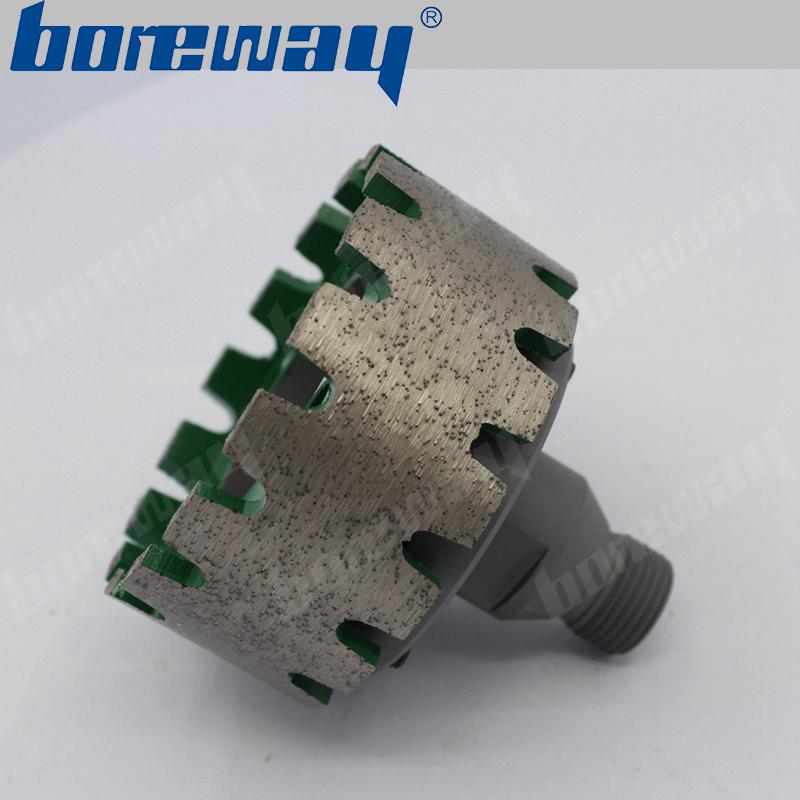 D90*40T*50H continious rim diamond stubbing wheel with adapter