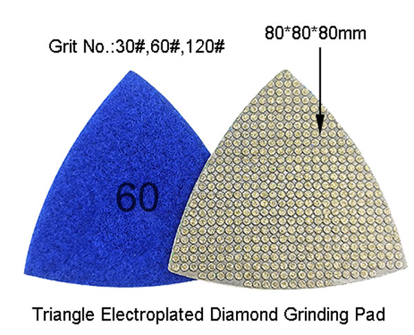 Triangle Electroplated Diamond Polishing Pad Grinding Discs Concrete  Plate for Suppliers
