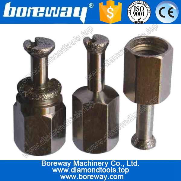 electroplating diamond anchor bit for construction