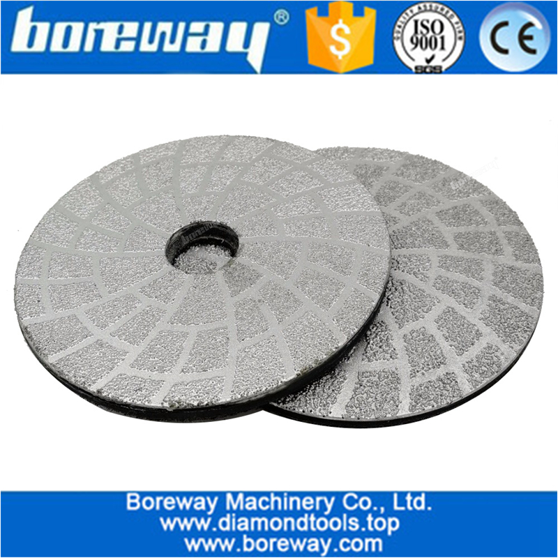 4inch 100mm Vacuum Brazed Diamond Grinding Disc Shaping Or Beveling Grinding Pad