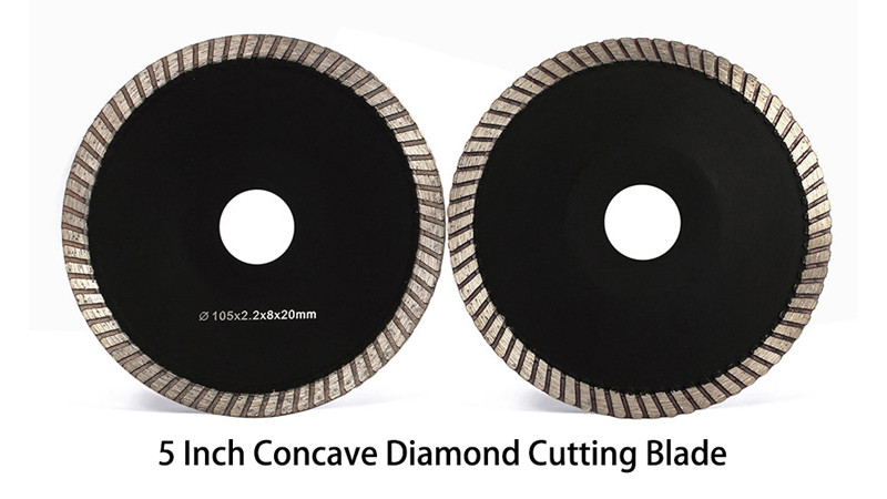 5 Inch concave diamond cutting blade