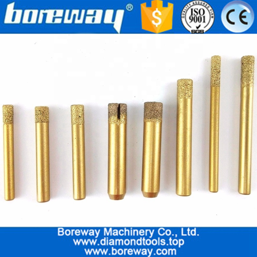 Vaccum Brazed Diamond engraving bits, straight knife, Flat-end