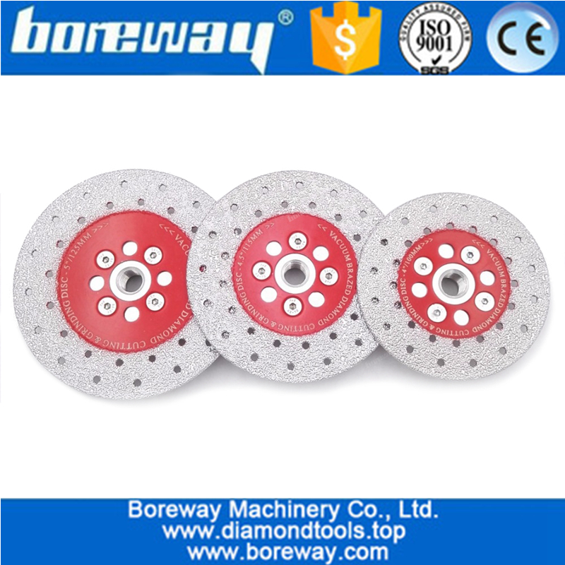 High quality Double Sided Vacuum Brazed diamond grinding cup wheel with M14 Thread